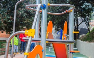 Arranca la entrega de parques en la localidad de San Cristóbal
