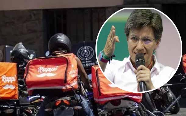 Alcaldía de Bogotá prohíbe parrillero en motos de domicilios