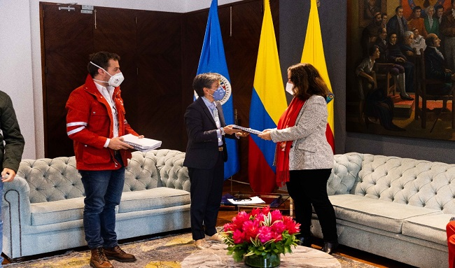 Alcaldesa de Bogotá recibe visita de la presidenta de la CIDH y su delegación