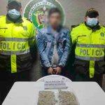 Un hombre es capturado por el delito de tráfico de estupefacientes en Suba