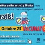 Este 23 de octubre hay vacunatón contra sarampión y rubéola en Bogotá