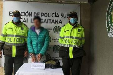 Capturado sujeto por porte y tráfico de estupefaciente en el barrio Turingia Suba