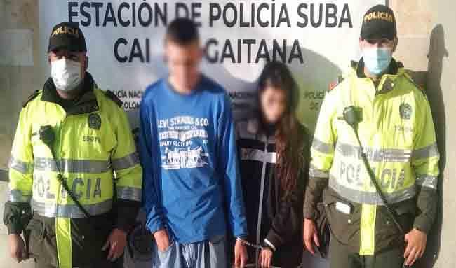 Capturan a dos ladrones en la Urbanización Cafam en Suba por el hurto de dos celulares