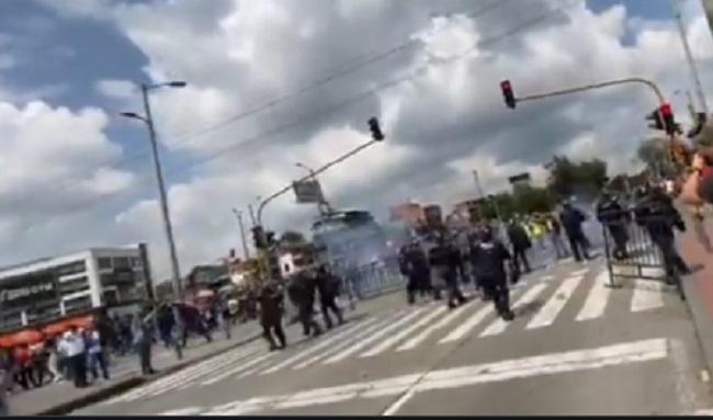 Este lunes la localidad de Suba vivió una nueva jornada de manifestaciones