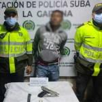 Sujeto capturado por el delito de fabricación, tráfico, porte de armas y municiones en el barrio Santa Rita Suba