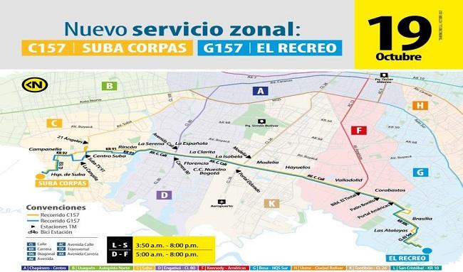 Nueva ruta zonal conectará a Suba Corpas con El Recreo