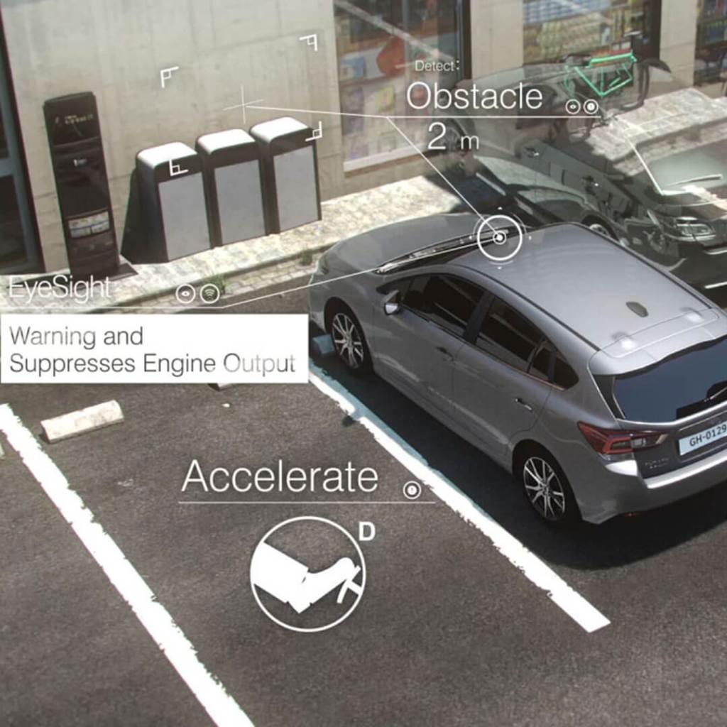 Subaru EyeSight Pre-Collision Throttle Management