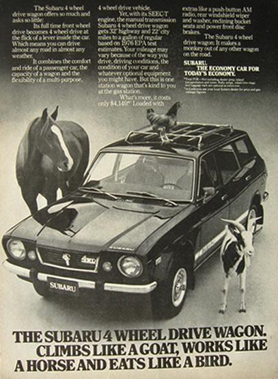 1976 subaru 4wd wagon