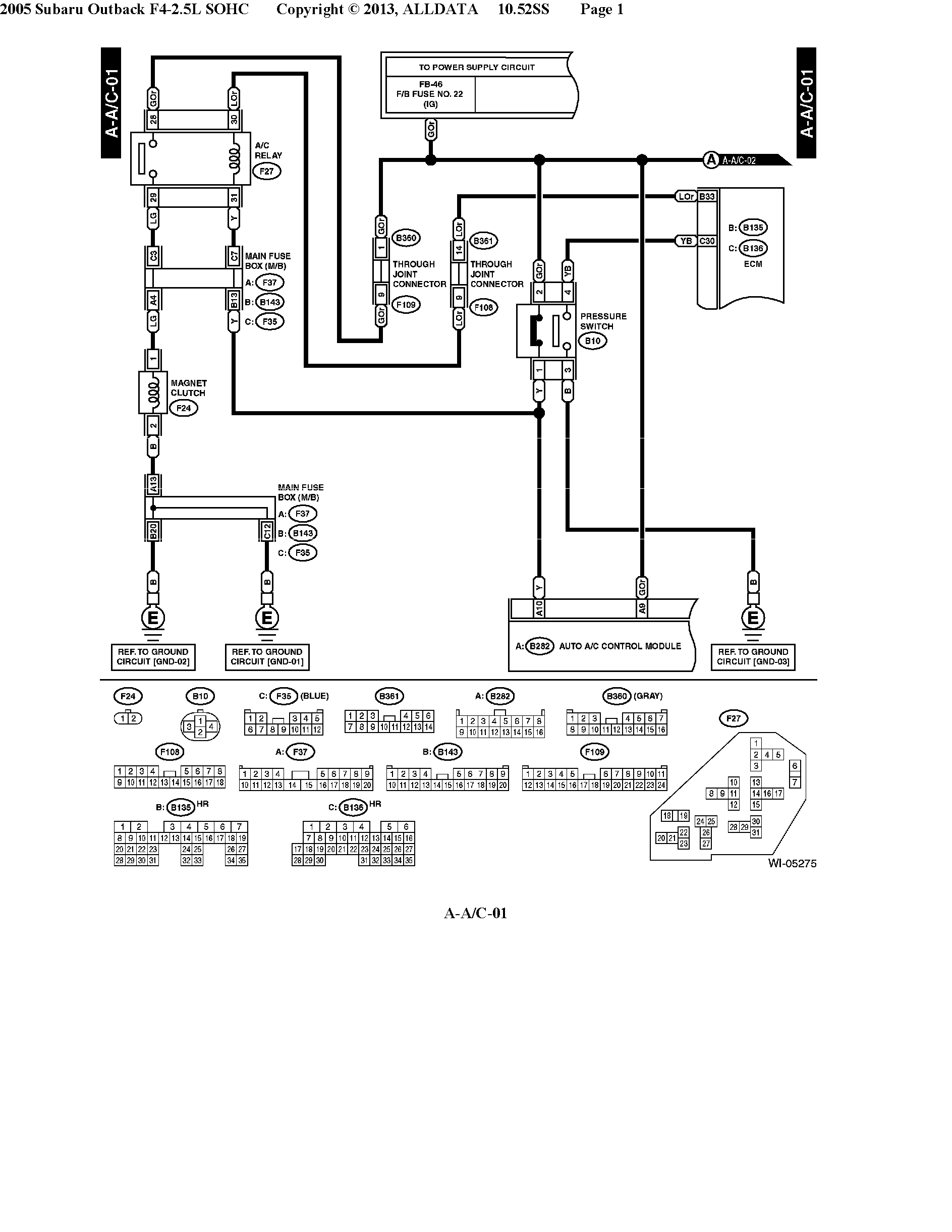 Electrical Wiring Diagrams Subara Outback Ll Bean