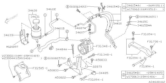 power steering system 2004 subaru outback