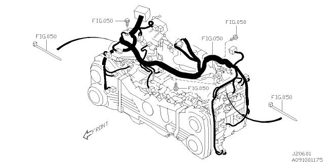 engine wiring harness  2015 subaru wrx