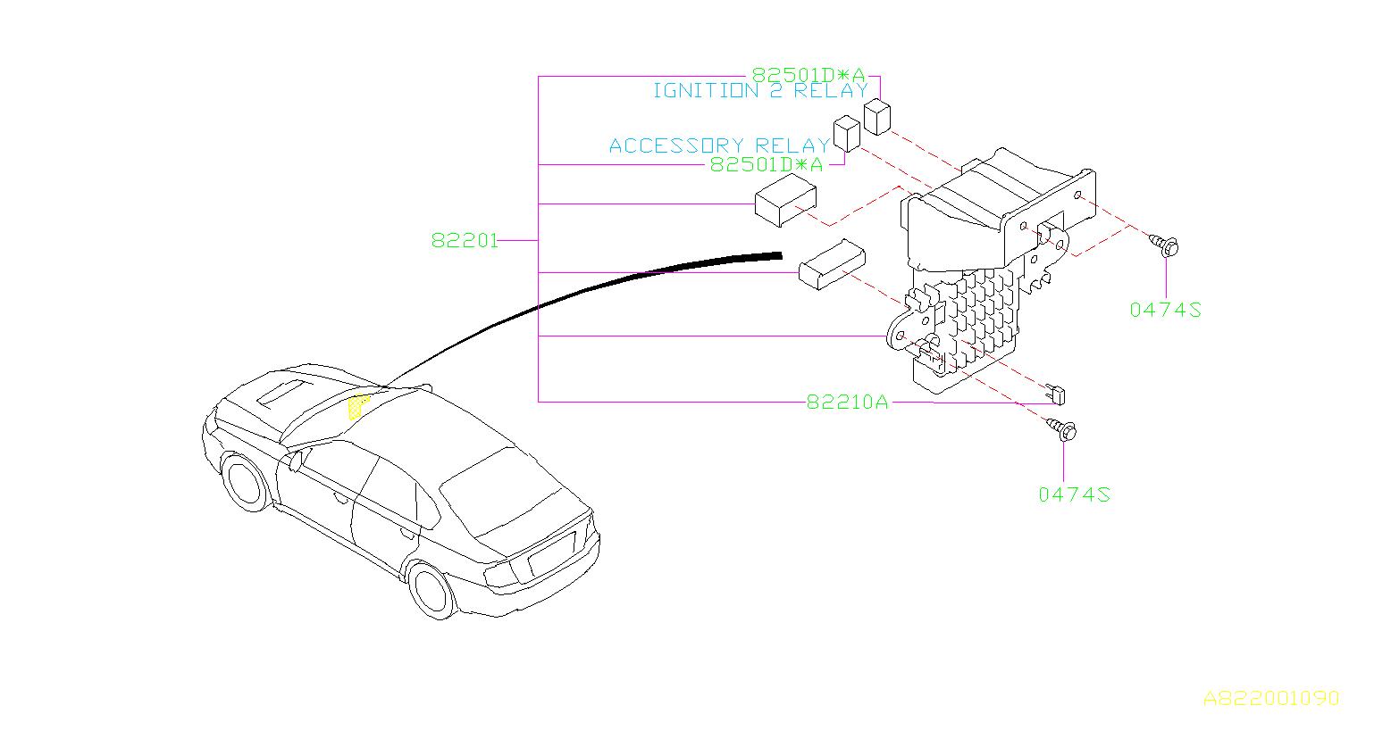 Subaru Legacy Accessory Power Relay Box Fuse Main
