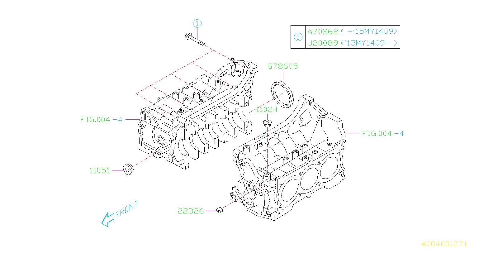 Subaru Outback Oil Seal System Engine Cylinder Cooling