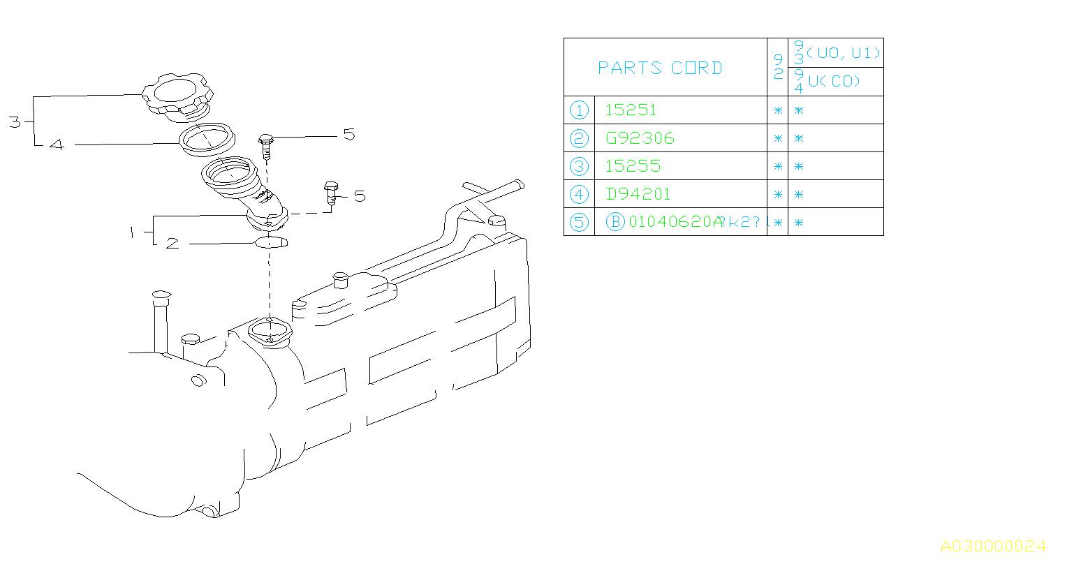 Subaru Svx Gasket Belt Cover Timing