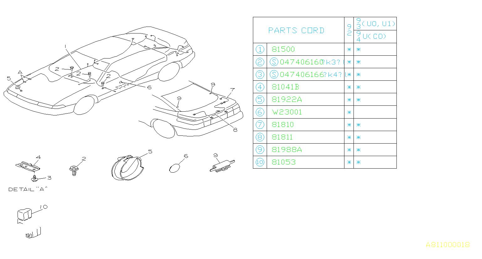 Subaru Svx Hole Plug Right Rh Side Harness Wiring Rear