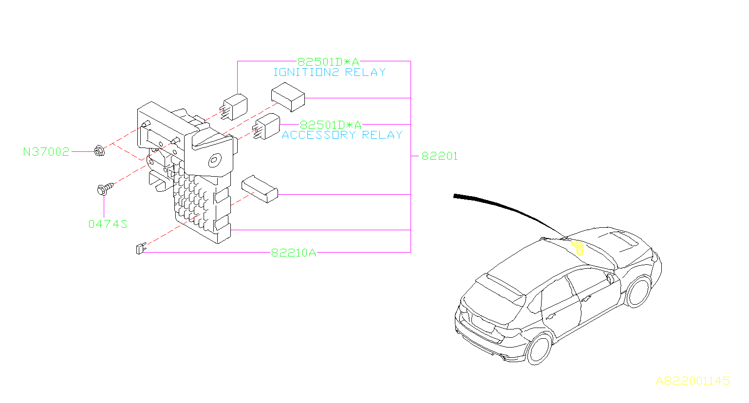 Subaru Wrx Fuse Auto Box Main Wiring