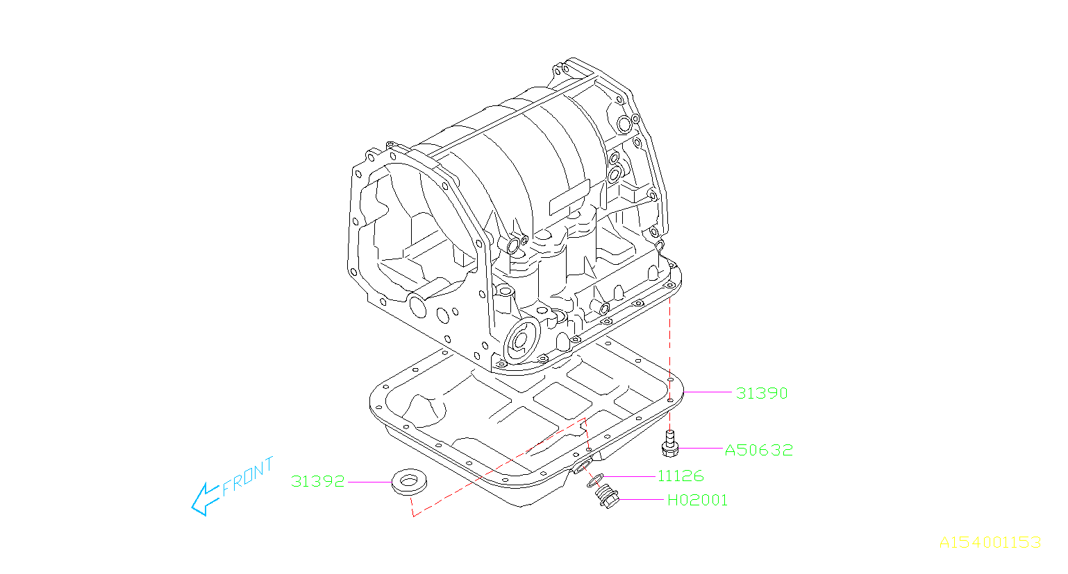 Subaru Forester Automatic Transmission Oil Pan Oil Pan