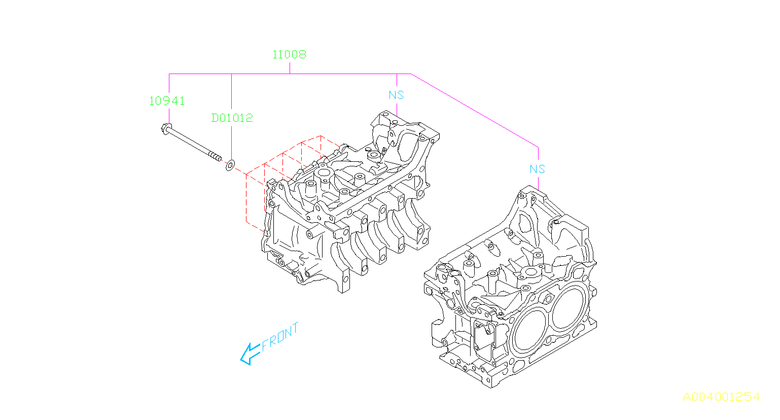 Subaru Forester Block Set Cylinder Body Engine Cooling