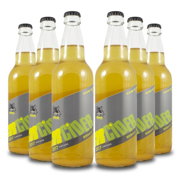 six bottles subcider