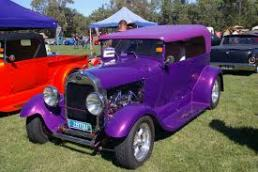 purple classic car