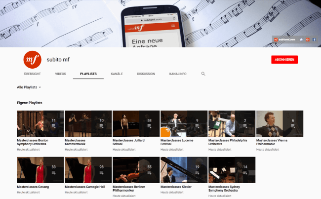 YouTube Masterclasses