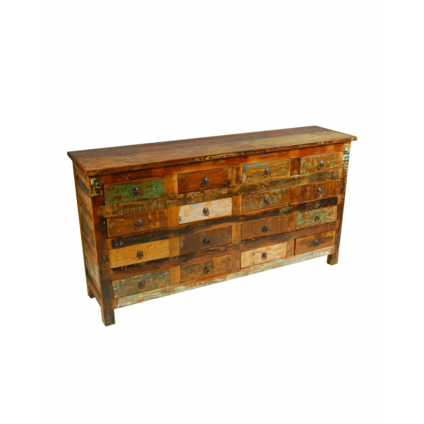 RECLAIMED WOOD 16 DRAWER CHEST