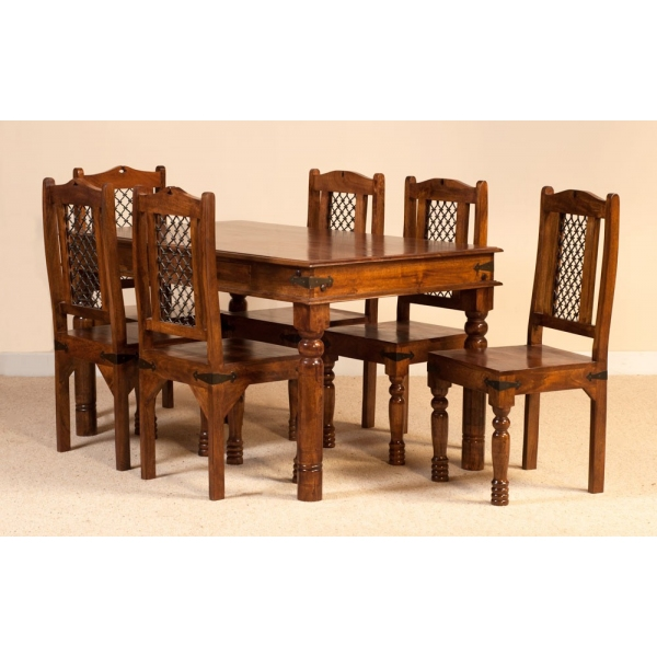 JALI DINING SET WITH SIX CHAIRS