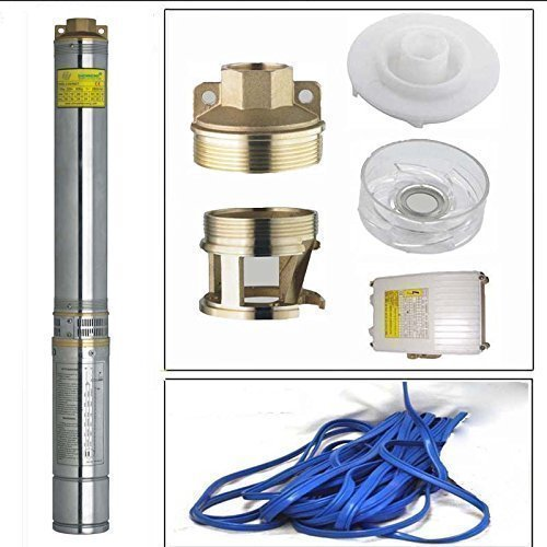 HSH-Flo 2HP Submersible Pump 4'' Deep Well 220v Stainless Steel 528ft Max with 98.5 FT Cord