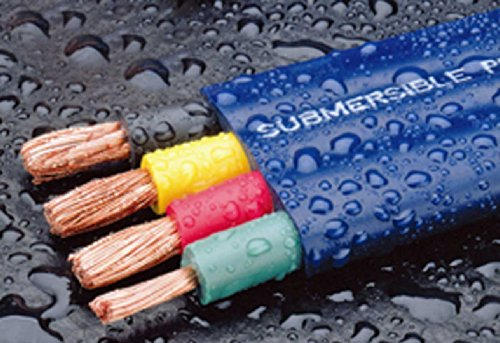 500-Foot Double-Insulated Submersible Pump Cable for Water Wells 12-Gauge 3-Wire + Ground