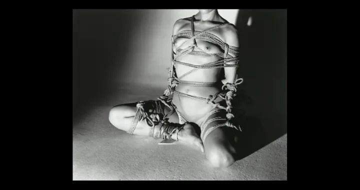 picture of woman tied using kinbaku techniques