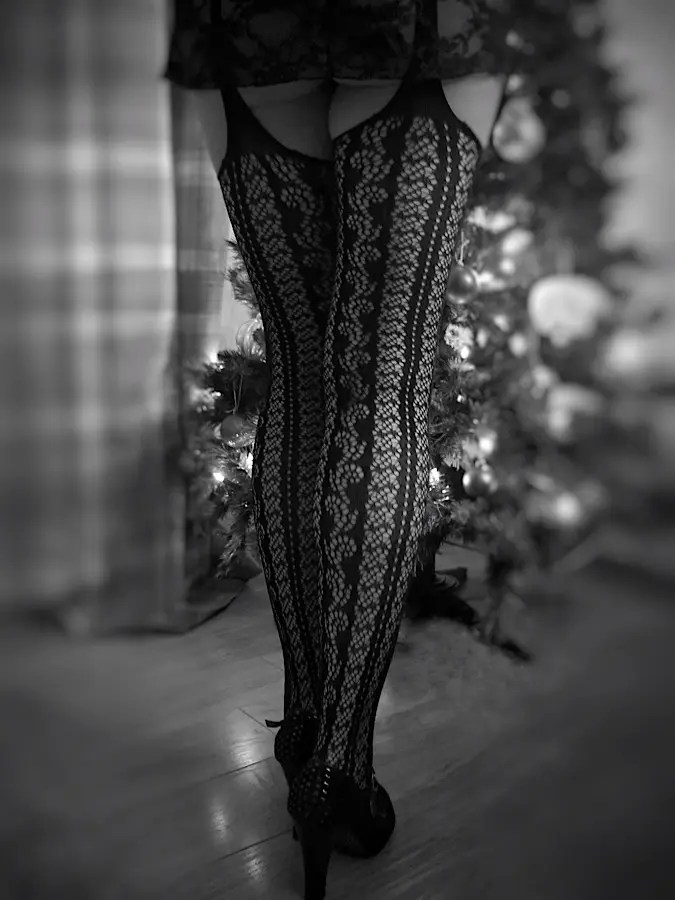 Christmas Stockings. Missy by the tree