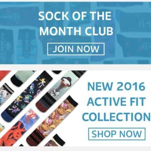 Sock of the month club subscription box