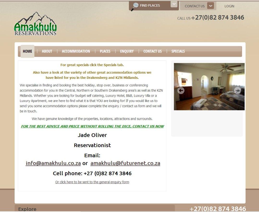 Amakhulu Reservations Website