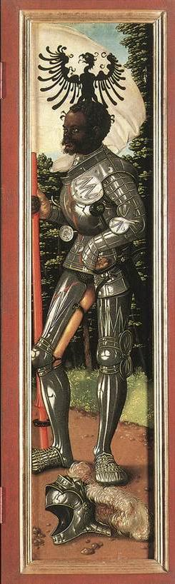 St Maurice with raven banner