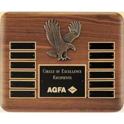 12 Plate Eagle Perpetual Plaque