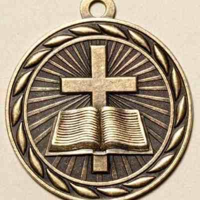"""2"""" Christian Medal"""