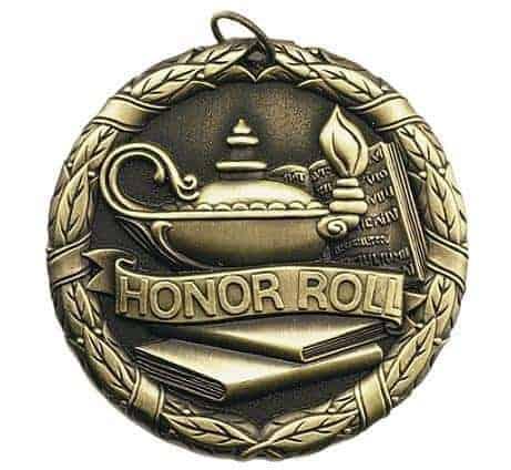 "2"" Honor Roll Medal"
