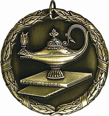 "2"" Lamp of Learning Medal"