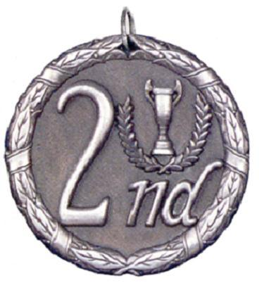 """2"""" Second Place Medal"""