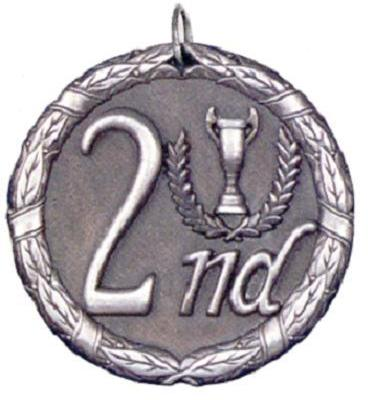 "2"" Second Place Medal"