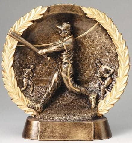 3-D Plate Men's Baseball Trophy