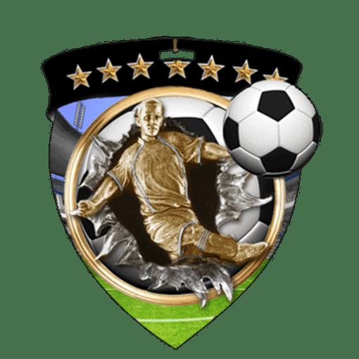 "3"" Soccer Shield Medal"