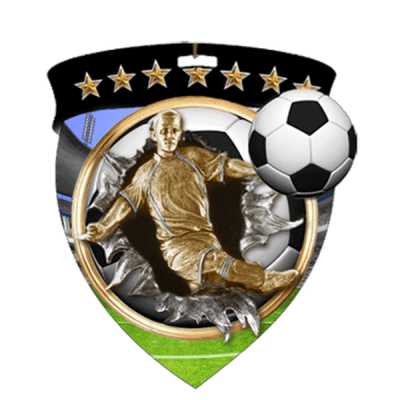 "3"" Soccer Shield Medal"