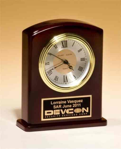 "6 3/4"" Rosewood Desk Clock"