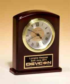 "6 3/4"" Rosewood Desk Clock"
