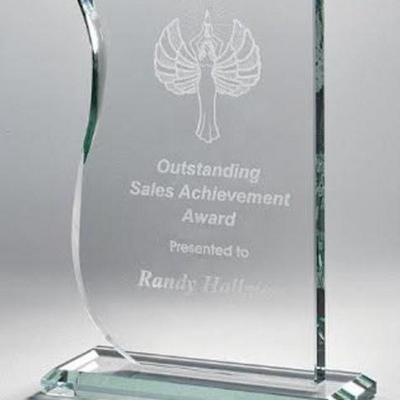 Jade Wave Glass Award