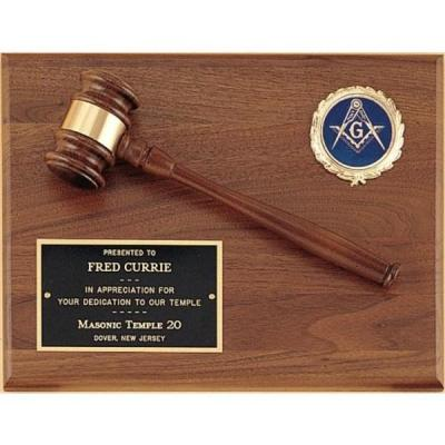 9 x 12 Walnut Gavel Plaque with Insert