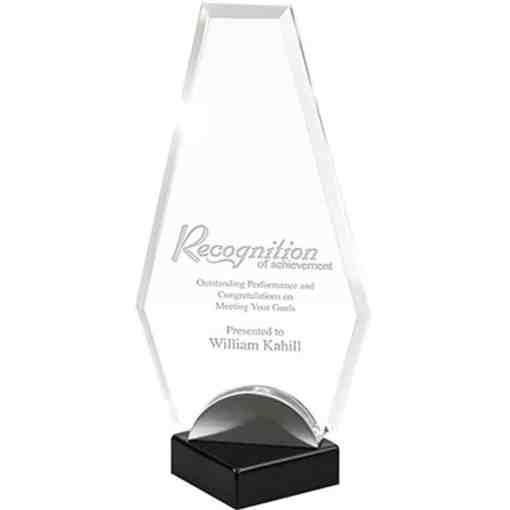 Angled Flame Acrylic Award