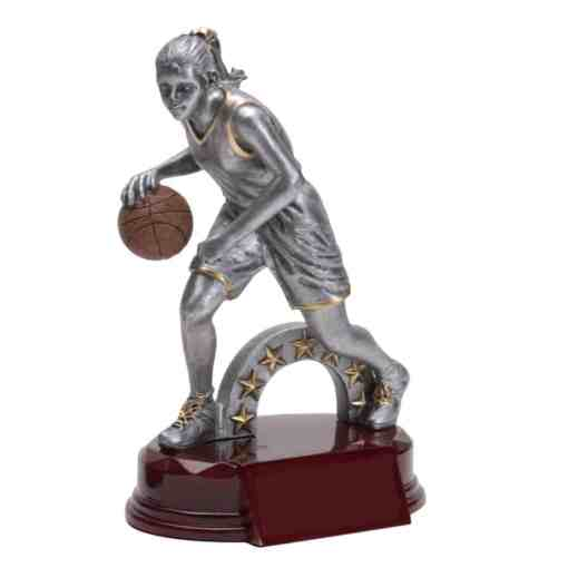 Silver Prestige Female Basketball Trophy
