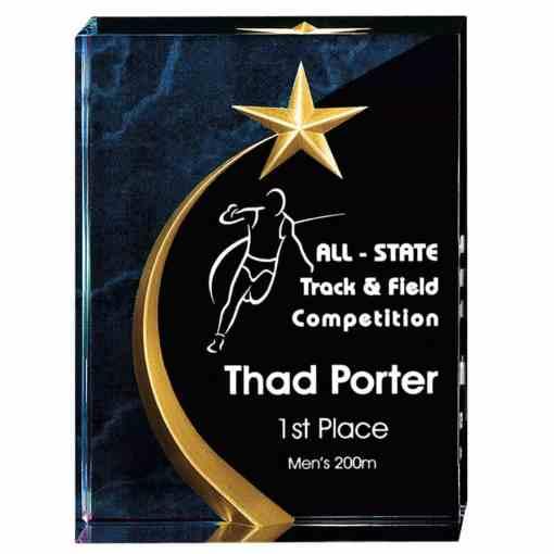 Blue Carved Star Award AC252